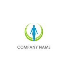 healthcare medic man logo vector image