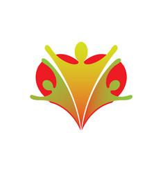 heart family union care logo design icon vector image