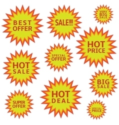 Hot sale labels vector image