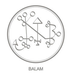 Icon with symbol demon vector