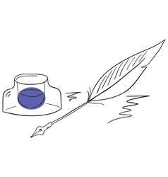 Ink and pen vector image