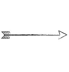 isolated arrow design vector image