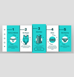 Lingerie accessories items linear vector