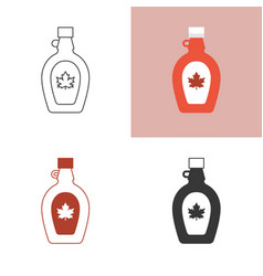 Maple syrup icon set vector