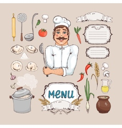 Menu for russian cuisine vector image