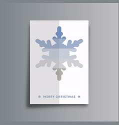 merry christmas background template minimal design vector image