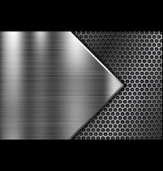 Metal background with perforated element vector