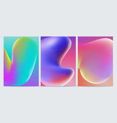 modern abstract covers set cool gradient shapes vector image
