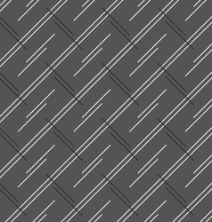 Monochrome pattern with doubled strips forming vector image