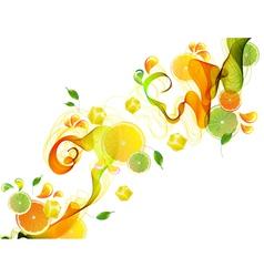 Orange abstract splash vector