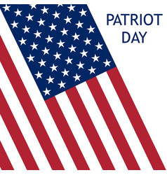 patriot day in the united states vector image
