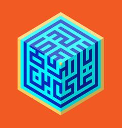 Poster design kufic arabic calligraphy st emam ali vector