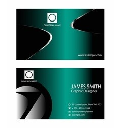 Professional business card template vector