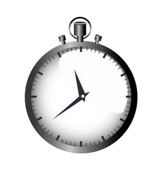 realistic graphic with gray simple stopwatch vector image