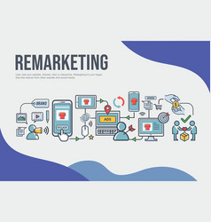 remarketing banner web icon for business and vector image