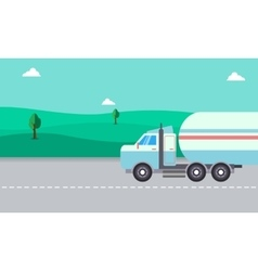 Road tanker of landscape vector