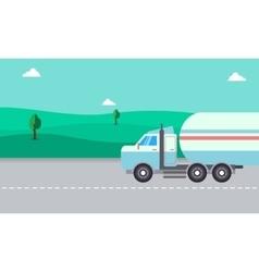 Road tanker of landscape vector image