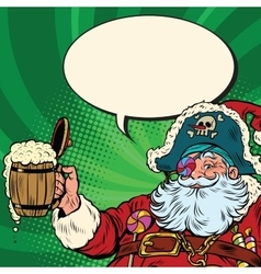 Santa Claus beer in the Irish pub vector image