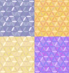 Seamless hexagons vector