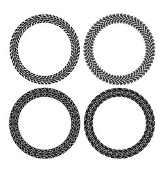 set round tire tracks vector image