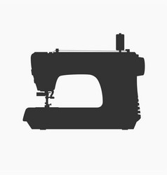Side view on sewing machine black silhouette vector