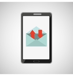 smartphone concept email message speak icon vector image