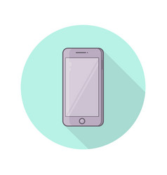 smartphone with blank screen vector image