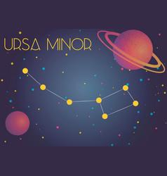the constellation ursa minor vector image
