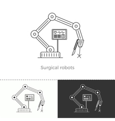 Thin line concept icon surgical robots vector