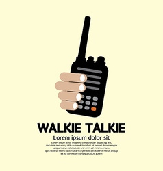 Walkie Talkie In Hand vector image