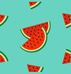 watermelon slice icon cut with seed triangle vector image