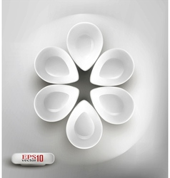 white plates vector image