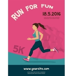 Woman running jogging - colorful vector