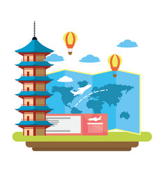 world travel and tourism vector image