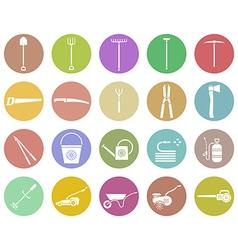garden tools set vector image