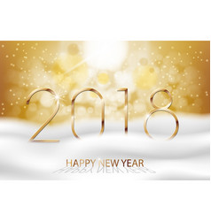 happy new year 2018 - new year colorful vector image
