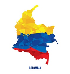 Map of Colombia vector image