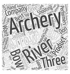 three rivers archery Word Cloud Concept vector image vector image