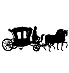 whip horse and carriage vector image vector image