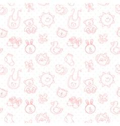 Baby toys cute cartoon set seamless pattern vector