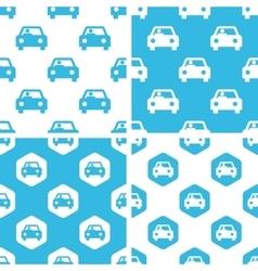 Car patterns set vector