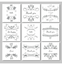 frames for text hand-drawn vector image vector image