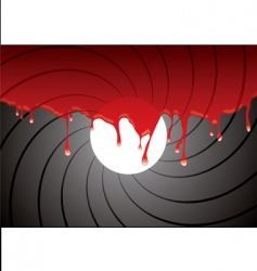 gun barrel inside blood vector image