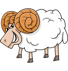 Ram farm animal cartoon vector