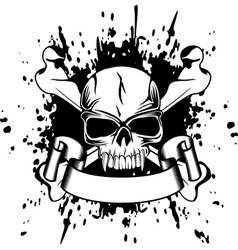 skull and crossed bones vector image vector image