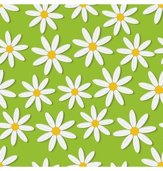 Summer daisies seamless background vector image