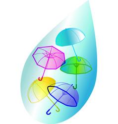 umbrellas and drop vector image