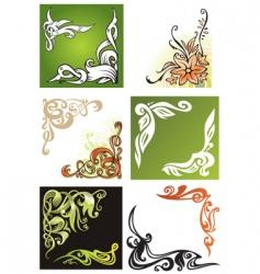 decorative corner elements vector image vector image
