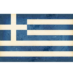 Flag of Greece with grunge elements vector image vector image