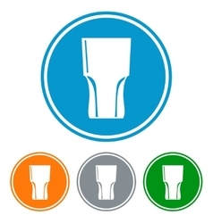 Flat tumbler glass for beer vector image vector image